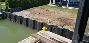 SZ-Pile Wall, Dock & Platform with Pilings and Davit.